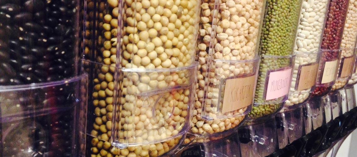 Bönor och linser i mängder